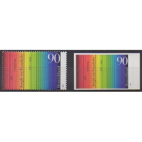 Allemagne - 2012 - No 2731 et 2759 - Sciences et Techniques