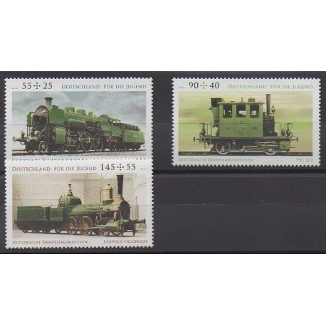 Allemagne - 2012 - No 2773/2775 - Chemins de fer