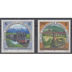 Autriche - 1997 - No 2053/2054 - Chemins de fer