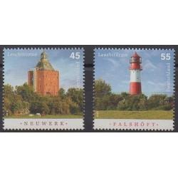 Germany - 2010 - Nb 2625/2626 - Lighthouses