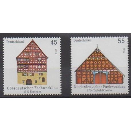Allemagne - 2010 - No 2648/2649 - Architecture
