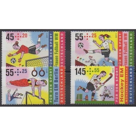 Allemagne - 2011 - No 2682/2685 - Sports divers