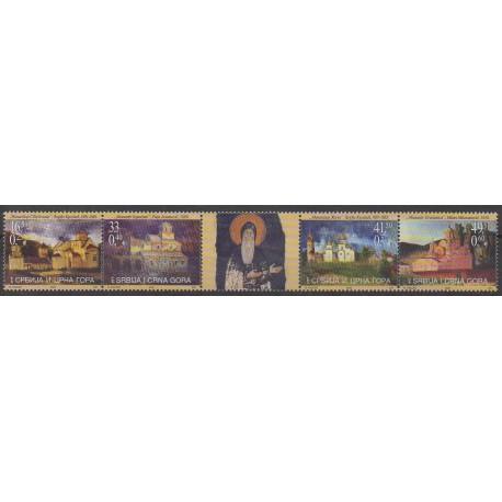 Yougoslavie (Serbie et Monténégro) - 2005 - No 3127/3130 - Églises