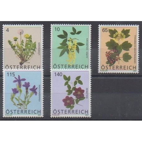 Autriche - 2007 - No 2505/2509 - Fleurs