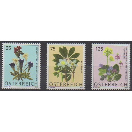 Autriche - 2007 - No 2458/2460 - Fleurs