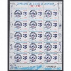 France - Feuillets de France - 2021 - Nb F27 - Guides de Chamonix