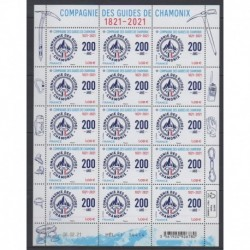France - Feuillets de France - 2021 - Nb F24 - Guides de Chamonix