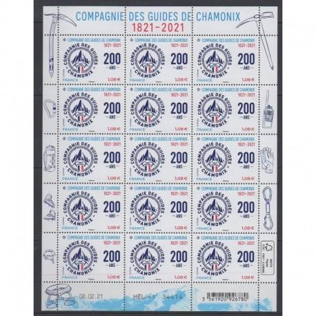 France - Feuillets de France - 2021 - No F24 - Guides de Chamonix