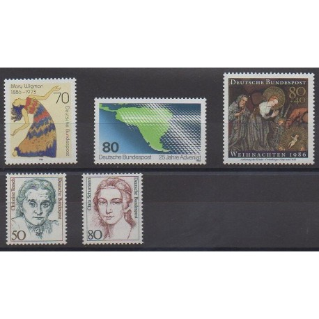 Allemagne occidentale (RFA) - 1986 - No 1133/1137