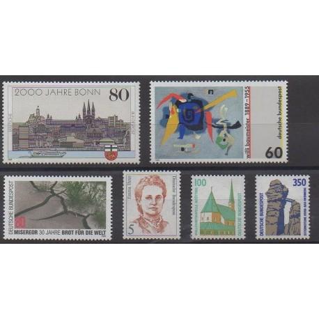 Allemagne occidentale (RFA) - 1989 - No 1234/1239