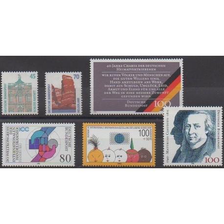 Allemagne occidentale (RFA) - 1990 - No 1300/1305
