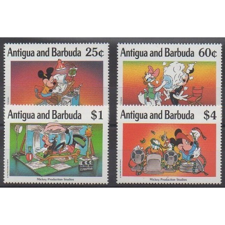 Antigua et Barbuda - 1990 - No 1269/1272 - Walt Disney