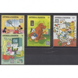 Antigua et Barbuda - 1989 - No 1190/1193 - Walt Disney