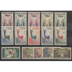 Togo - 1957- No 260/274 - Animaux