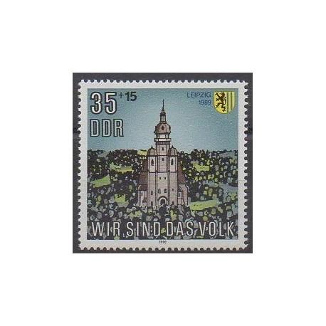 Allemagne orientale (RDA) - 1990 - No 2919 - Églises
