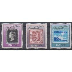 East Germany (GDR) - 1990 - Nb 2933/2935 - Stamps on stamps