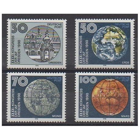 Allemagne orientale (RDA) - 1990 - No 2965/2968 - Espace