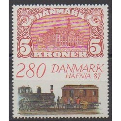 Denmark - 1987 - Nb 903 - Trains - Stamps on stamps