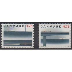 Denmark - 1997 - Nb 1153/1154 - Trains - Bridges