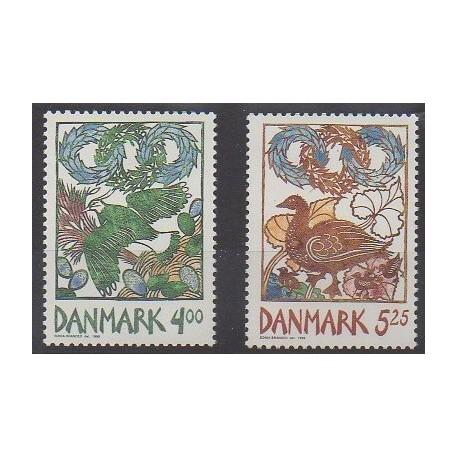Danemark - 1999 - No 1210/1211 - Oiseaux