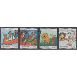 Denmark - 2002 - Nb 1302/1305 - Cartoons - Comics