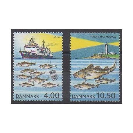 Danemark - 2002 - No 1319/1320 - Vie marine