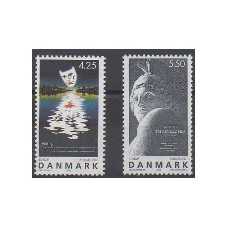 Danemark - 2003 - No 1344/1345 - Art - Europa