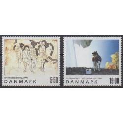 Danemark - 2003 - No 1351/1352 - Peinture