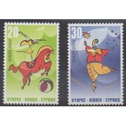 Cyprus - 2002 - Nb 998/999 - Circus or magic - Europa