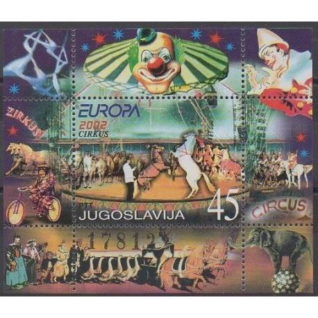 Yougoslavie - 2002 - No BF54 - Cirque ou magie - Europa