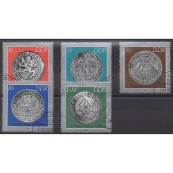 Allemagne orientale (RDA) - 1986 - No 2661/2665 - Monnaies - Oblitérés