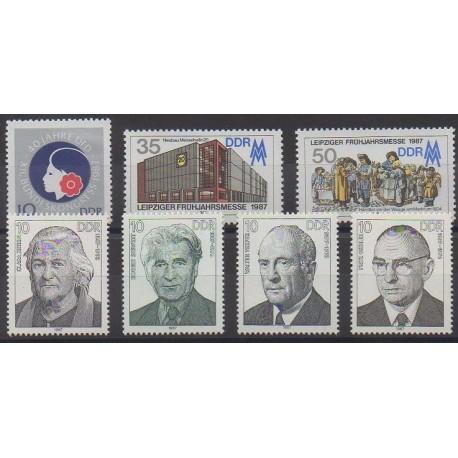 Allemagne orientale (RDA) - 1987 - No 2699/2705