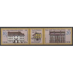 East Germany (GDR) - 1987 - Nb 2737/2738 - Architecture - Philately