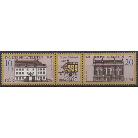 Allemagne orientale (RDA) - 1987 - No 2737/2738 - Architecture - Philatélie