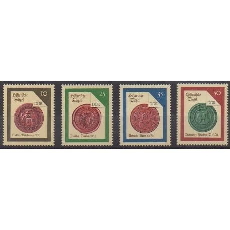 Allemagne orientale (RDA) - 1988 - No 2767/2770 - Monnaies, billets ou médailles