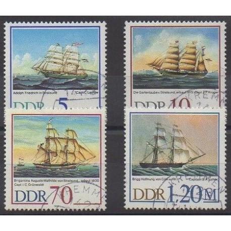 Allemagne orientale (RDA) - 1988 - No 2804/2807 - Navigation - Oblitérés
