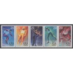 États-Unis - 1993 - No 2210/2214 - Jeux olympiques d'hiver