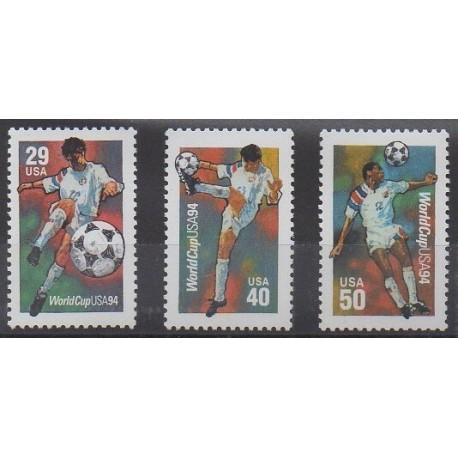 États-Unis - 1994 - No 2239/2241 - Coupe du monde de football
