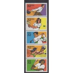 États-Unis - 1995 - No 2349/2353 - Sports divers