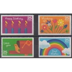 États-Unis - 1988 - No 1841/1844