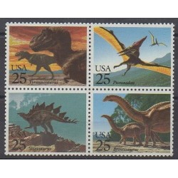 United States - 1989 - Nb 1873/1876 - Prehistoric animals