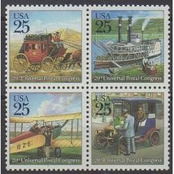 United States - 1989 - Nb 1881/1884 - Postal Service - Transport
