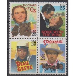 États-Unis - 1990 - No 1891/1894 - Cinéma