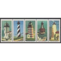 États-Unis - 1990 - No 1896/1900 - Phares