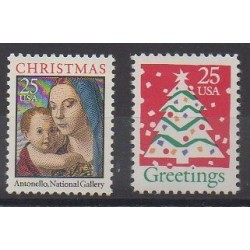 États-Unis - 1990 - No 1924/1925 - Noël