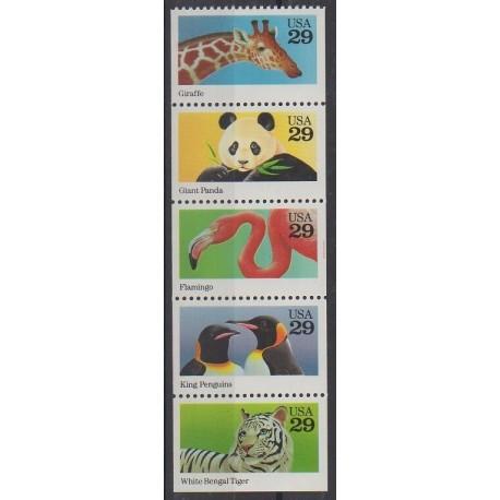 États-Unis - 1992 - No 2115/2119 - Animaux
