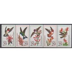 États-Unis - 1992 - No 2039/2043 - Oiseaux