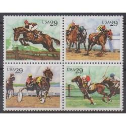 United States - 1993 - Nb 2152/2155 - Various sports - Horses