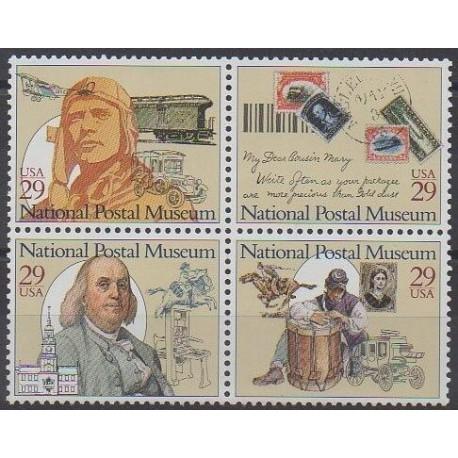États-Unis - 1993 - No 2182/2185 - Service postal