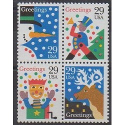 États-Unis - 1993 - No 2194/2197